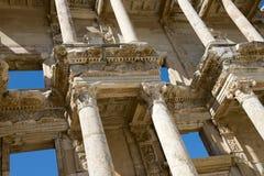 Ruines antiques de ville d'Ephesus, course vers la Turquie Photo libre de droits