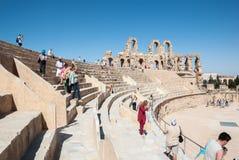 Ruines antiques des scènes pour le combat de gladiateurs Photographie stock libre de droits