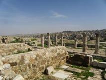 Ruines antiques romaines à Amman Image libre de droits