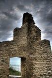 Ruines antiques sous des nuages Photo stock