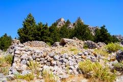 Ruines antiques sur l'île de Kos en Grèce photo libre de droits