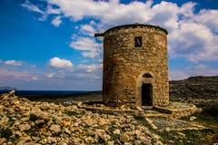 Ruines antiques sur Rhodes Images libres de droits
