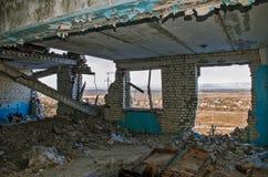 Ruines après l'ATO en Ukraine Photographie stock