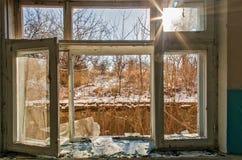 Ruines après l'ATO en Ukraine Image libre de droits