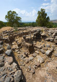 Ruines in Bethsaida Stock Photography