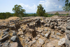 Ruines in Bethsaida Royalty Free Stock Images