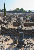 Ruines in Capernaum Stock Photo