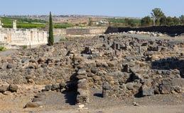 Ruines in Capernaum Stock Image