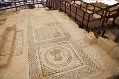Ruines chez Kourion, Chypre Photos stock