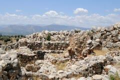 Ruines chez Mycenae, près de Mikines Grèce Photographie stock