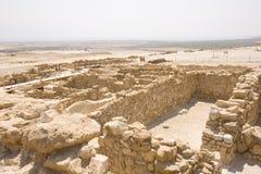 Ruines chez Qumran Photographie stock libre de droits