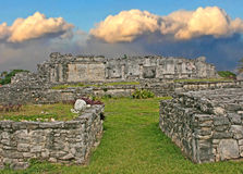 Ruines chez Tulum, Mexique Photographie stock