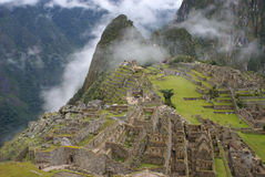 Ruines célèbres d'Inca de Machu Picchu Pérou Photos stock