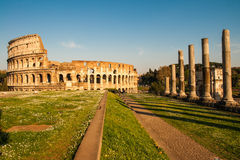 Ruines of Colloseum. Scenic view of ruines of Colloseum, Rome, Italy Stock Image