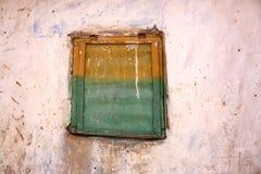 Ruines construisant la fenêtre Images stock
