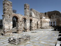Ruines d'église d'Achilleios de saint Image stock