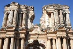 Ruines d'église d'EL Carmen chez l'Antigua images libres de droits