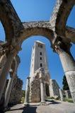 Ruines d'église dans Rab, Croatie Photo libre de droits