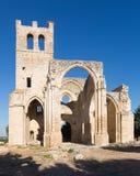 Ruines d'église de Santa Eulalia dans Palenzuela Image stock