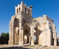 Ruines d'église de Santa Eulalia dans Palenzuela Images libres de droits