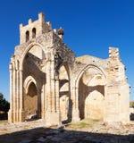 Ruines d'église de Santa Eulalia dans Palenzuela Photos stock