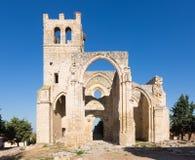 Ruines d'église de Santa Eulalia dans Palenzuela Images stock