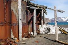 Ruines d'île de déception - Antarctique Photo stock