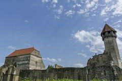 Ruines d'abbaye cistercian médiévale en Transylvanie Photo libre de droits