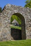 Ruines d'abbaye de bataille dans le Sussex image stock