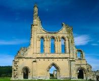 Ruines d'abbaye de Byland Image stock