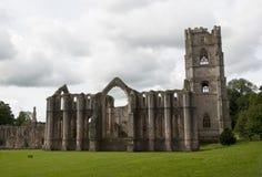 Ruines d'abbaye de fontaines Images libres de droits