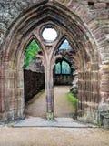 Ruines d'abbaye de Tintern, une ancienne église au Pays de Galles Images libres de droits