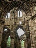 Ruines d'abbaye de Tintern, une ancienne église au Pays de Galles Image libre de droits