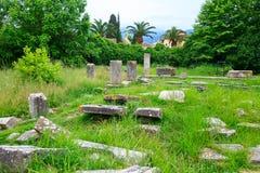 Ruines d'agora antique dans Thassos, Limenas, Grèce Images libres de droits