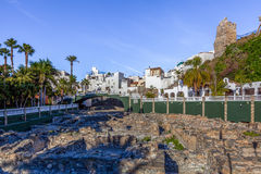 Ruines d'Almunecar Image libre de droits