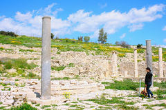 Ruines d'Amathus Photo libre de droits