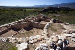 Ruines d'Anasazi au monument national de Tuzigoot Photo libre de droits