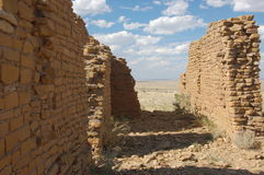 Ruines d'Anasazi, gorge de Chaco Photos stock