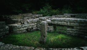 Ruines d'Ancien de Butrint Albanie image libre de droits