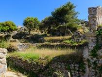 Ruines d'Angelokastro Photo stock