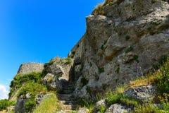 Ruines d'Angelokastro Images stock