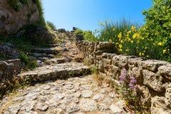 Ruines d'Angelokastro Photos libres de droits