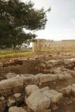 Ruines d'Antipatris de ville de Romains Image libre de droits