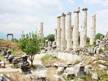 Ruines d'antiquité d'Ephesus de la ville antique Photographie stock