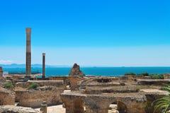 Ruines d'Antonine Baths à Carthage Photo stock