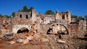 Ruines d'Aradena photographie stock libre de droits
