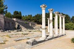 Ruines d'Asklepieion Images libres de droits