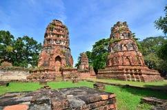 Ruines d'Ayuthaya Image libre de droits