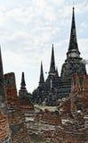 Ruines d'Ayutthaya en Thaïlande images libres de droits