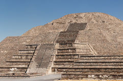 Ruines d'Aztèque de Teotihuacan près de Mexico Photo stock